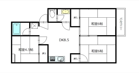 【西区寺尾東2】エルメス寺尾406号室  3DK